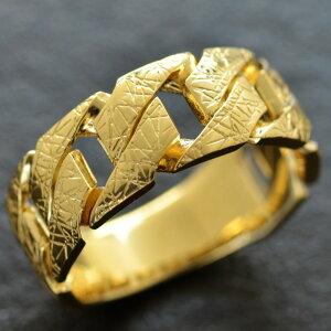 【8/1(日)24時間限定ポイント11倍!】指輪 メンズリング 18金 喜平 K18 ゴールド 男性用 日本製 刻印入り 地金リング ごつい 太め 大きいサイズ 作製可能