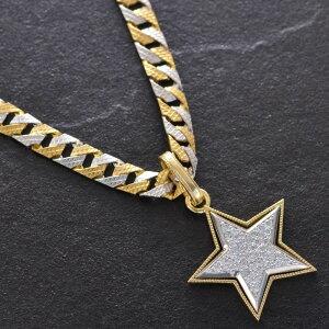 喜平 ネックレス 24金 純金 K24 24K メンズ ゴールド 純プラチナ Pt999 リバーシブル コンビ 模様 40g 50cm 5mm幅 K18 プラチナ ダイヤモンド スター ペンダントトップ セット