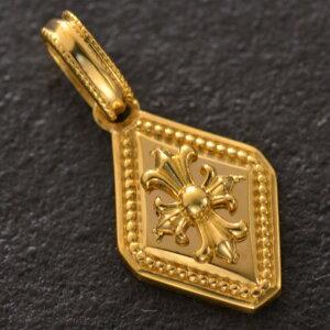 ペンダントトップ メンズ k24 純金 メンズペンダントトップ ゴールド 十字架 クロス 日本製 刻印入り