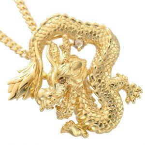 徳力 喜平 ネックレス 10g 50cm 18金 K18 喜平ネックレス メンズ 龍 ドラゴン ダイヤモンド メンズネックレス ゴールド 男性 日本製 刻印入り 鑑別書付き