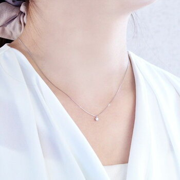 Pt900ダイヤモンド0.10ct一粒ネックレス