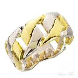 K18 喜平 リング 18金 メンズ 喜平リング 指輪 ゴールド プラチナ コンビ Pt900 幅広 刻印入り 男性用 日本製 刻印入り ごつい 太め 大きいサイズ 作製可能