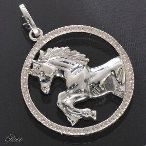 ペンダントトップ プラチナ メンズ ホース 馬 男性用 刻印入り 日本製 ペンダントヘッド