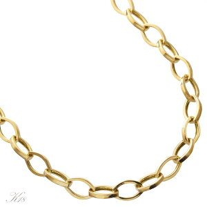 メンズチェーンネックレス 18金 K18 18K ゴールド 34g 長さ指定作成可能 刻印入り 日本製 男性