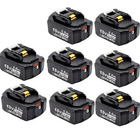 マキタ 互換バッテリー 18v BL1860b 互換バッテリー 18V 6.0Ah 残量表示付(red) 8個セット power