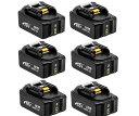 マキタ 互換バッテリー 18v BL1860b 互換バッテリー 18V 6.0Ah 残量表示付 6個セット power