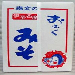 国産 愛媛県 森文おふくみそ 低塩分 合味噌(4kg)ダンボール入り中辛 1箱