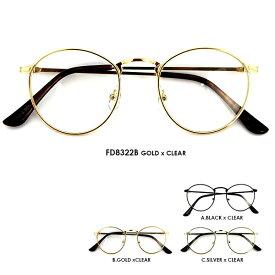 伊達眼鏡 FD8322 メタル メンズ レディース 共用 UVカット