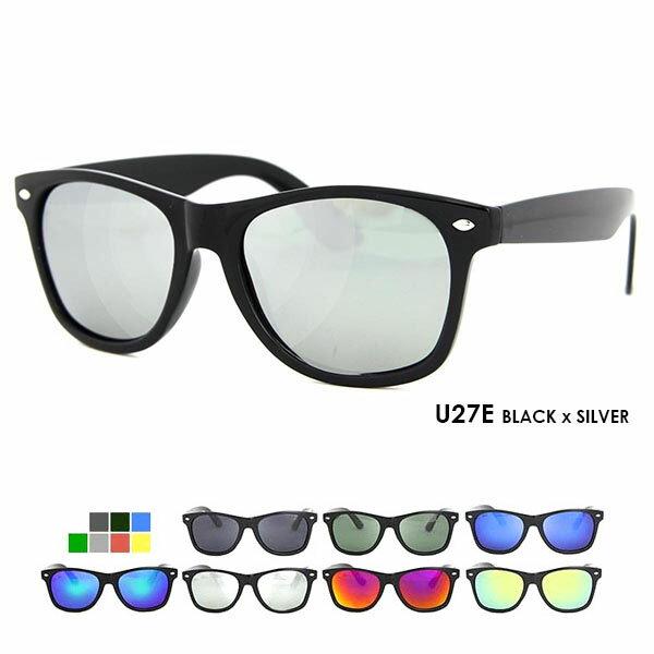 偏光サングラス u27 28 ウェリントン ウェイファーラー タイプ UVカット