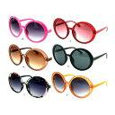 送料無料 丸サングラス ミラーサングラス 全12色 u539デカサン メンズ レディース 人気 激安 UVカット 紫外線カットデ…