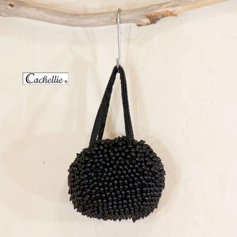 パーティバック cachellie カシェリエ パールバッグ 黒【RCP】