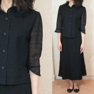Summer black formal summer yarn woven suit summer for Japan-5047