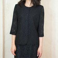 サマーブラックフォーマル二枚衿ブラウス夏物日本製8990【楽ギフ_メッセ入力】【RCP】