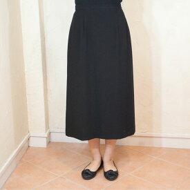 サマーブラックフォーマルAラインスカート夏用 日本製単品 9240【RCP】