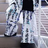 The darkness that suffer from disease of underwear baggy pants sum pattern kanji Lady's men flamboyance pretty flamboyance kava cyber of fashion punk rock V of ハンニャワイドパンツ Harajuku origin origin, and is pretty is pretty; suffer from disease; kava individu
