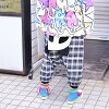 Fashion sarouel pants panda seven minutes length pretty showy individual showy kava dance clothes hip-hop girls kids stage bureau clothes Lady's men ACDC RAG for サカサパンダ seven minutes of length sarouel pants Harajuku origin