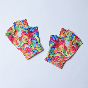 原宿系/ファッション/手袋/グローブ/ポップ/総柄/キャンディ/お菓子/カワイイ