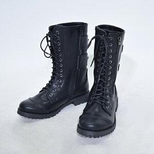 ブーツ/ロングブーツ/レースアップ/原宿系/ファッション/レディース/パンク/ロック