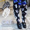 【全品50%OFF】CAT サルエルパンツ | 猫柄 ネコ柄 ねこ柄 猫 原宿 原宿系 ファッション レディース キッズ サルエル パンツ サルエルパンツ 10分丈 ゆめかわいい ダンス 衣装 派手カワ かわいい 総柄 個性的 白 黒 ブラック ホワイト ACDC RAG [メール便可]