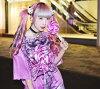 roripoppu T连衣裙糖果peropero糖果毒毒kawa T连衣裙T恤连衣裙时装原宿系的青文字派的花哨喜爱的个性派个性性的modopankuguro kawa中性ACDCRAG