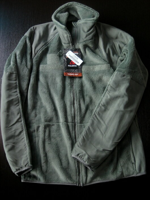 【米軍実用のMADE IN USA】US.GEN3 ECWCSフリースジャケットFoliage Green