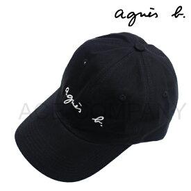 アニエスベー オム アニエスb ロゴ キャップ/ブラック[agnes b PARIS]【帽子 CAP 正規品 メンズ レディース ポロ】★☆【あす楽】