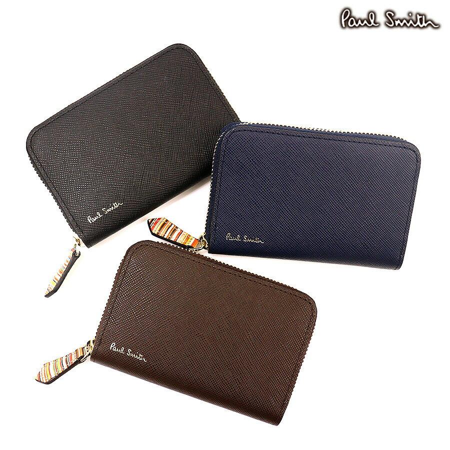 ポールスミス 財布 ジップストローグレイン2 レザーコインケース[PSC780] ポールスミス(Paul Smith)[牛革 レザー メンズ ギフト あす楽