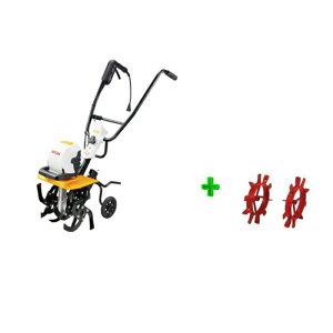 ■RYOBI(リョービ)電気カルチベータ(ACV-1500) +中耕車輪の2点セットです。 【中耕作業に!】 【送料無料】【リョービ RYOBI  耕運機 電気式耕運機】 【RCP】05P03Dec16