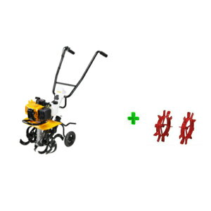 RYOBI(リョービ)エンジンカルチベータ(RCVK-4300)(耕運機) +中耕車輪 【中耕作業に!】【送料無料】【リョービ RYOBI  耕運機 エンジン式耕運機】 【RCP】05P03Dec16