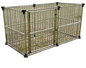 サークルハウス ステンレス製マルチサークル DFS-C1(0.5坪タイプ)【個人宅への配達になります。】【代金引換不可】   【ステンレス 大型犬 犬小屋 大型犬サークル】【決算処分価格】【楽天スーパーSALE】