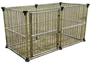 サークルハウス ステンレス製マルチサークル DFS-C1(0.5坪タイプ)【会社等と西濃運輸の営業所止めに配達です。個人宅へは配達はできません。】【代金引換不可】   【スチール 大型犬