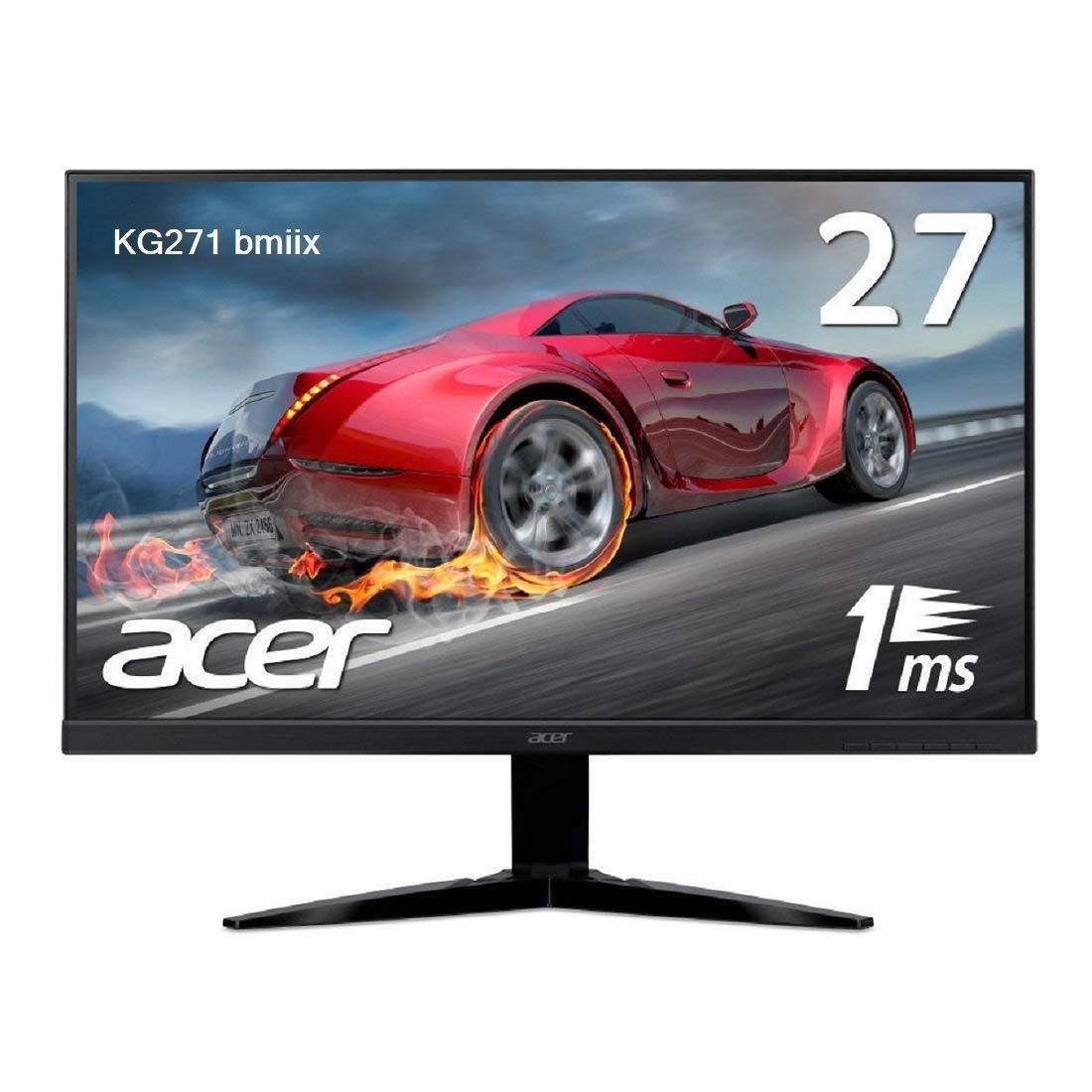 【エントリーでポイント最大33倍】(PS4などのゲームに!)Acer ゲーミングモニター 27型 フルHD 1920×1080 非光沢 KG271bmiix 27インチ 1ms 75Hz Free Sync フレームレス スピーカー内蔵[新品 送料無料]