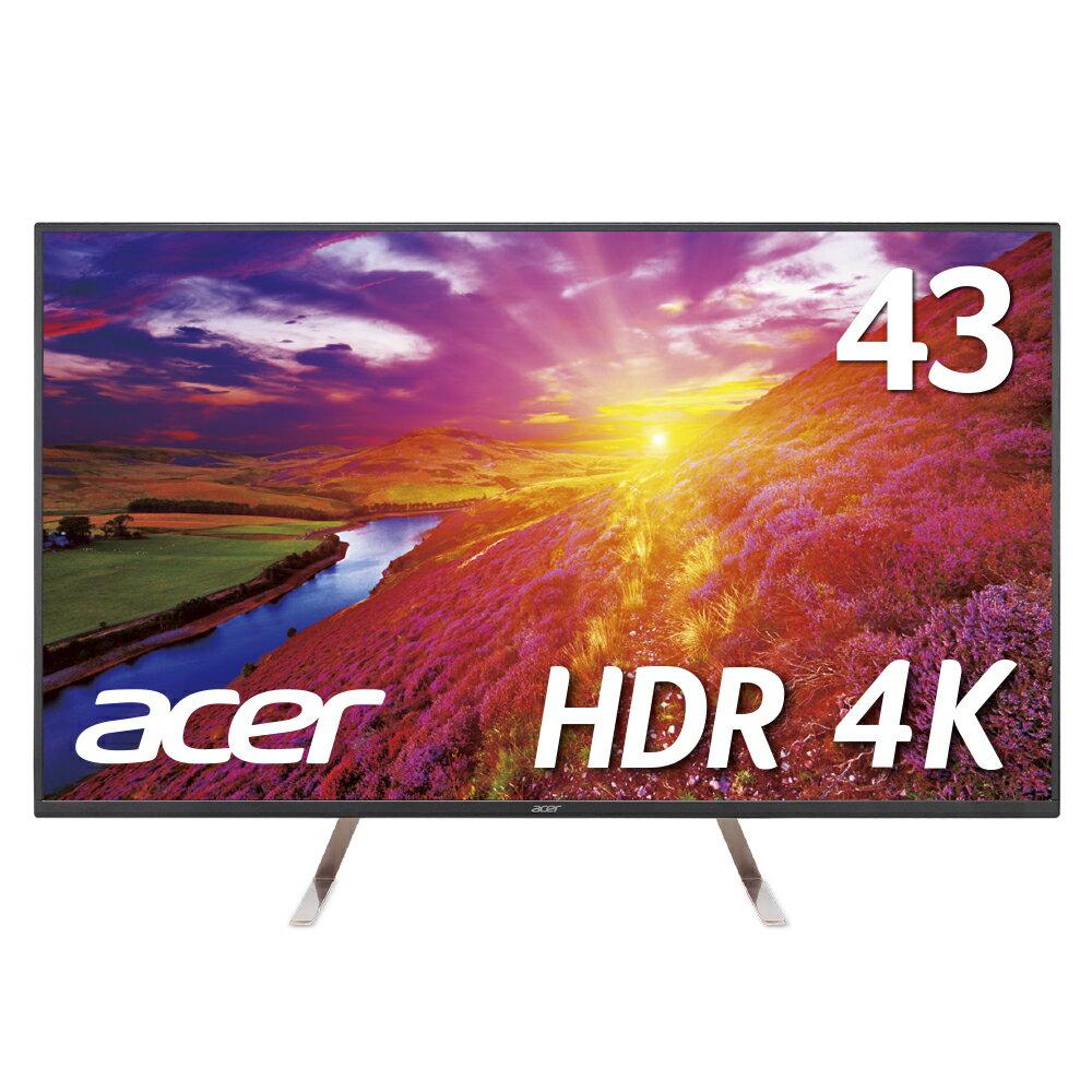 【新品・送料無料!4K HDRで迫力のゲーム体験を!】エイサー Acer 大型モニターHDR10対応 4Kモニター ET430Kbmiiqppx 43インチ 非光沢 4K IPS 5ms HDMIx2 DP miniDP入力対応(PS4などのゲーム用ディスプレイにも!)