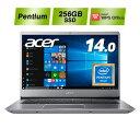 【狭額ベゼルの薄型スタイリッシュデザイン!】Acer エイサー ノートパソコン Swift 3 SF314-54-N24U/S PentiumGold 4…