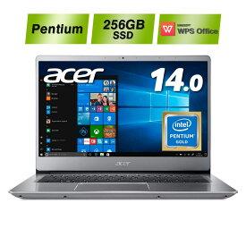 【狭額ベゼルの薄型デザイン! 新品!】Acer エイサー ノートパソコン Swift 3 SF314-54-N24U/S PentiumGold 4417U 4GB SSD256GB ドライブ無 14.0型 Windows 10 フルHD LEDバックライト 軽量 ラップトップ ノートPC 軽い
