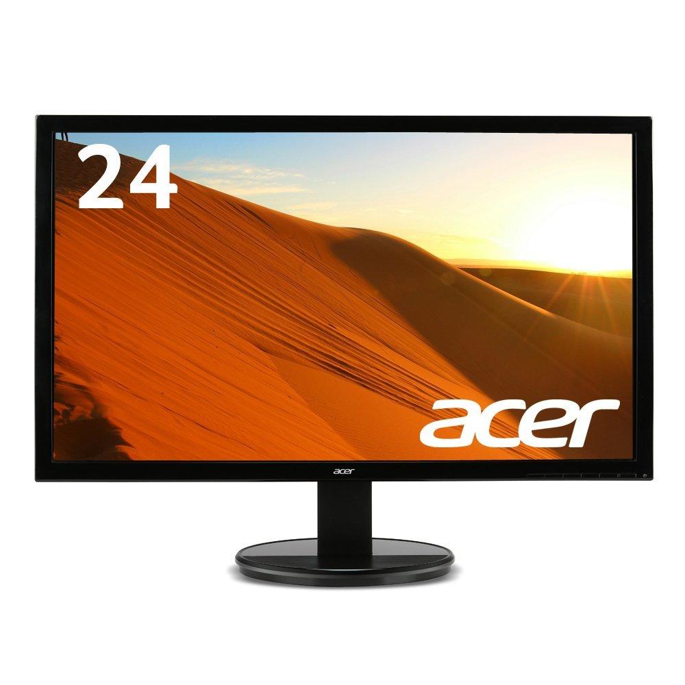 【ポイント5倍のランキング上位モデル】Acer パソコン(PC)モニター K242HLbid 24インチ/フルHD/5ms/HDMI端子対応/VESA/ゲーム用にもオススメ!(新品)