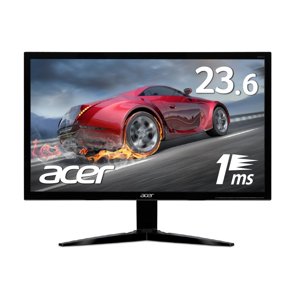 【ポイント5倍!】Acer エイサー ゲーミングモニター KG241Qbmiix 23.6インチ/フレームレス/フルHD/1ms/75Hz/HDMI入力x2/ステレオスピーカー/ヘッドフォン端子(新品)
