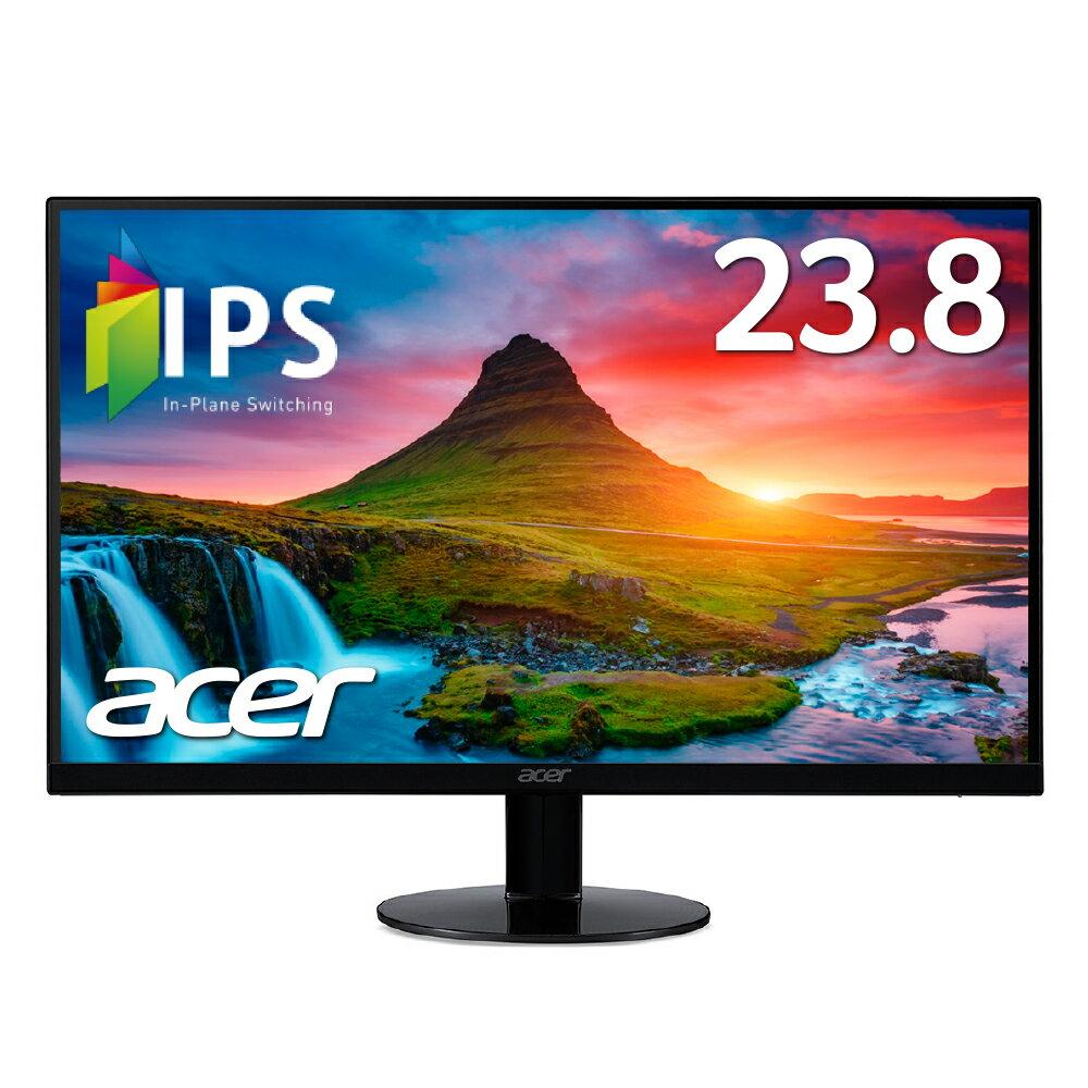 【ポイント最大28倍エントリーでUP!3/26 1:59まで】【Acer パソコン(PC)用 液晶モニター SA240YAbmi 23.8インチ レームレス IPS フルHD 4ms HDMI VGA端子 スピーカー内蔵 ゲームにオススメ!PCモニター(新品)