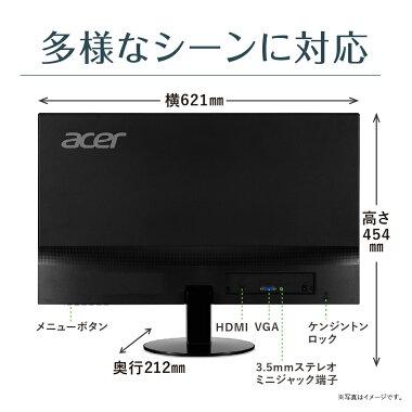 【スピーカー搭載のフレームレスで迫力満点!】AcerエイサーSA270Abmiパソコン(PC)モニターIPSパネル搭載フレームレスフルHD4msスピーカー内蔵27インチ液晶モニターディスプレイHDMIVGA端子パソコンモニターPCモニターPCディスプレイ新品PS4FPS