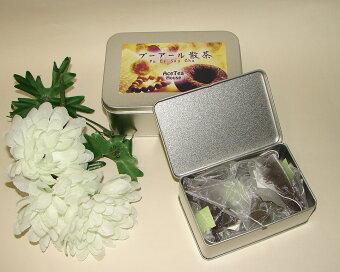 中国茶ティーバッグ『プーアール散茶』缶入り2g・10個入