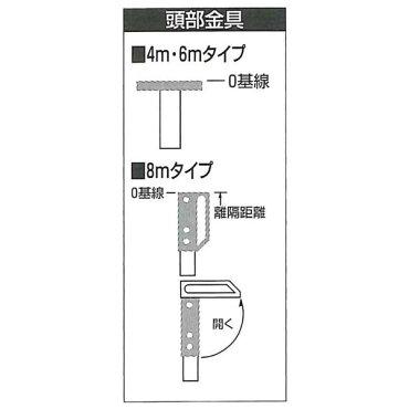 SK伸縮式メジャーポールNo.202(6m8段継)重さ1.1kg収納サイズ940mmテープ内臓タイプ【高さ計測/車庫の高さ/電線の高さ/天井の高さ/木の高さ】