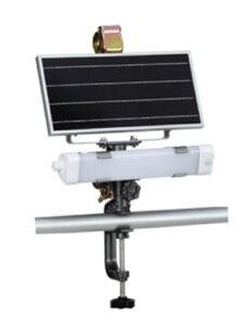 ソーラーセンサーライト ハタヤ SSL−06 6W 建築現場・資材置き場 仮設トイレなどの臨時照明