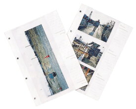 マイゾックス 工事写真帳 台紙のみ(50枚) パノラマ写真兼用 A-L6WP 再生グリーン A4 [工事写真 現場写真 工事アルバム]