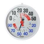 防雨型温湿度計TM-2680φ160mm【熱中症予防/猛暑対策/温度計/湿度計/屋外設置可能】
