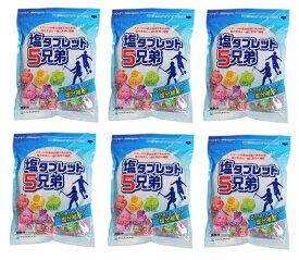 熱中症対策 6袋まとめ買い ランドアート 塩タブレット5兄弟 530g×6袋入 約1188粒 2020最新入荷 塩飴 塩あめ 塩タブレット5兄弟 塩分補給