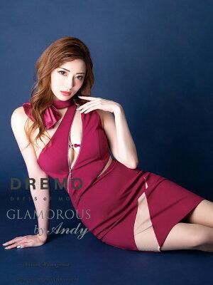 GLAMOROUSドレスGMS-V537ワンピースミニドレスAndyグラマラスドレスクラブキャバドレスパーティードレス