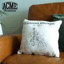 おさるのジョージ×ACME Furniture アクメファニチャー Curious George KIDS CUSHION シージー キッズ クッション ホワイト 30×30cm おさるのジョージ クッション 【ポイント10倍】