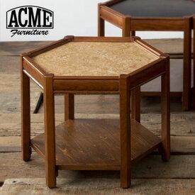 ACME Furniture アクメファニチャー BROOKS HEXAGONTABLE ベージュ ブルックス ヘキサゴンテーブル 家具 テーブル サイドテーブル【送料無料】