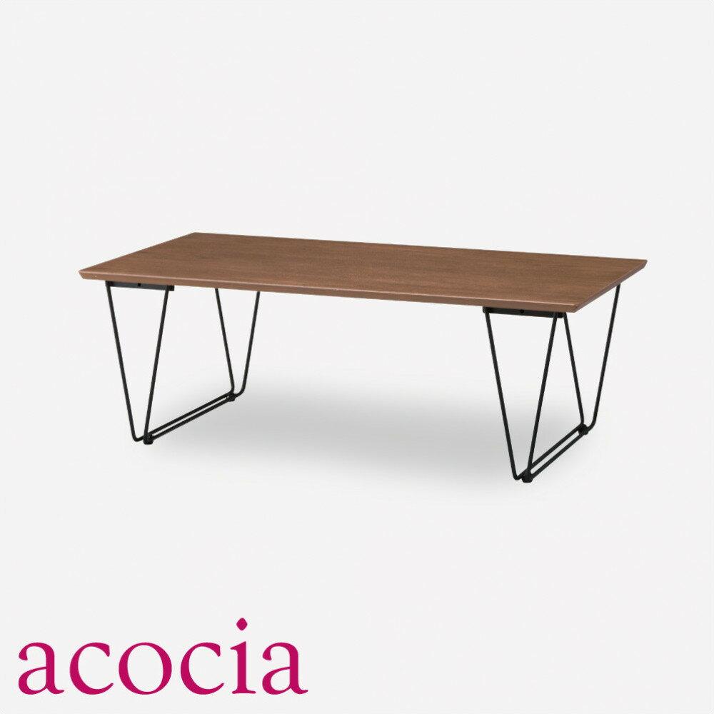 【高級ソファ半額セール】 テーブル センターテーブル 木製 W110×D55×H38cm アーロン コーヒーテーブル インダストリアル 男前インテリア