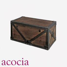 【ダイニングチェア セール】 送料無料 【 ベンチ セール】 収納家具 ケース・ボックス・小物 木箱 W76×D38×H35 トランクM おしゃれ カフェ cafe モデルルーム 北欧 人気